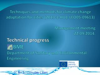T echnical progress      BME Department  of  Sanitary  and  Environmental Engineering