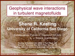 Geophysical wave interactions in turbulent magnetofluids