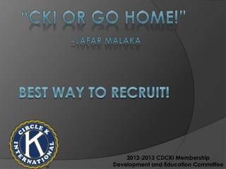 Best way To Recruit!