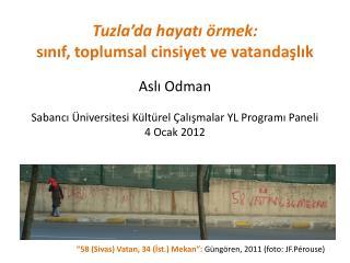 """""""58 (Sivas) Vatan, 34 (İst.) Mekan"""":  Güngören, 2011 (foto: JF.Pérouse)"""