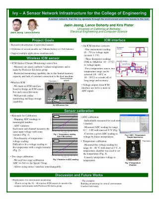 Ivy – A Sensor Network Infrastructure for the College of Engineering