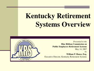 Kentucky Retirement Systems Overview