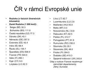 ČR v rámci Evropské unie