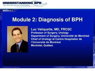 Module 2: Diagnosis of BPH