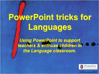 PowerPoint tricks for Languages