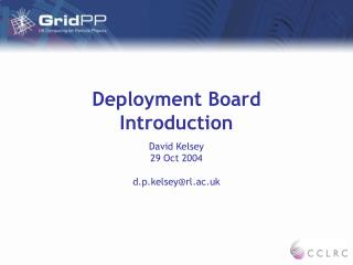 Deployment Board Introduction