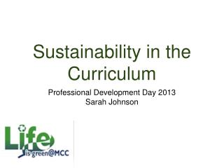Sustainability in the Curriculum