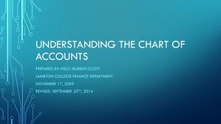 Understanding the chart of accounts