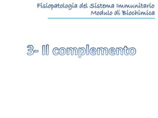Fisiopatologia del Sistema Immunitario