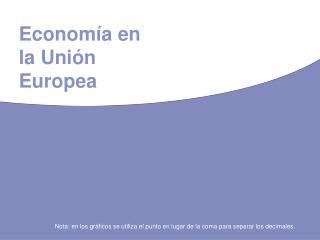 Economía en la Unión Europea