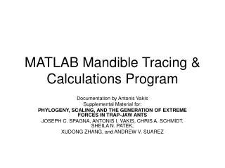 MATLAB Mandible Tracing & Calculations Program
