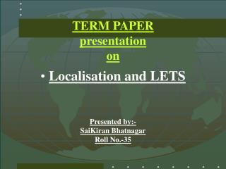 TERM PAPER  presentation on