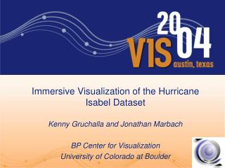 Immersive Visualization of the Hurricane Isabel Dataset