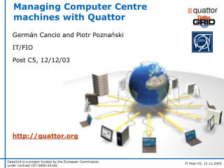 Managing Computer Centre machines with Quattor