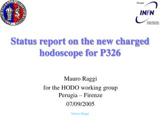 Status report on the new charged hodoscope for P326