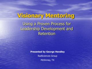 Visionary Mentoring