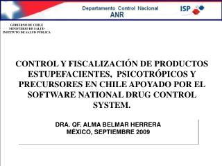 DRA. QF. ALMA BELMAR HERRERA MÉXICO, SEPTIEMBRE 2009