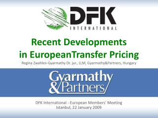 DFK International  -  European Members '  Meeting Istanbul ,  22 January 2009