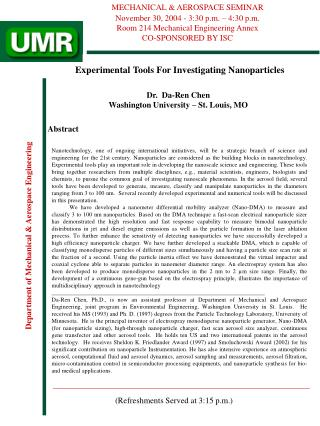 Experimental Tools For Investigating Nanoparticles