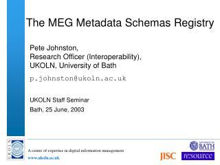 The MEG Metadata Schemas Registry