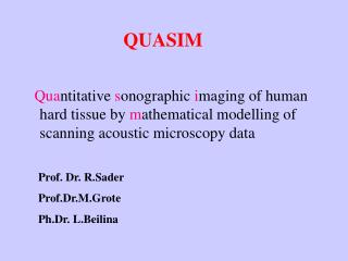 Quantitative sonographic imaging of human hard tissue by mathematical modelling of scanning acoustic microscopy data