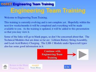 Engineering Team Training