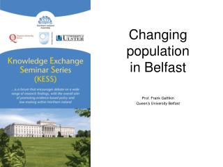 Changing population  in Belfast