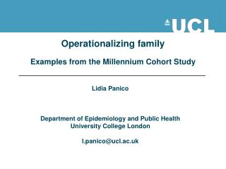 Operationalizing family  Examples from the Millennium Cohort Study