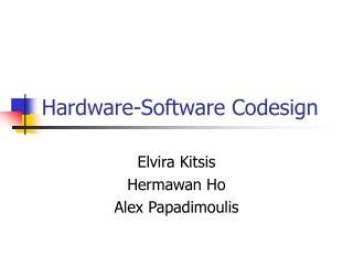 Hardware-Software Codesign