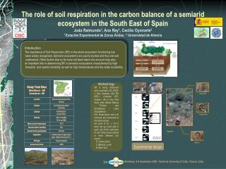 Introduction The importance of Soil Respiration (SR) in the whole ecosystem functioning has