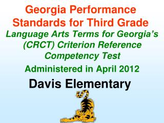Georgia Performance Standards for Third Grade