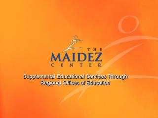 Supplemental Educational Services Through Regional Offices of Education