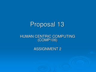 Proposal 13