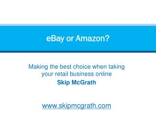 eBay or Amazon