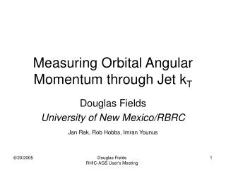 Measuring Orbital Angular Momentum through Jet k T