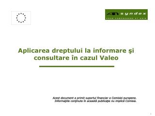 Aplicarea dreptului la informare şi consultare în cazul Valeo