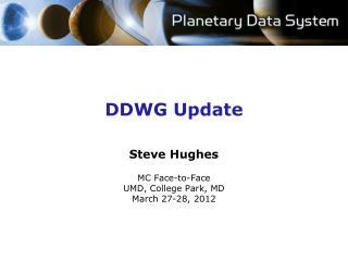 DDWG Update