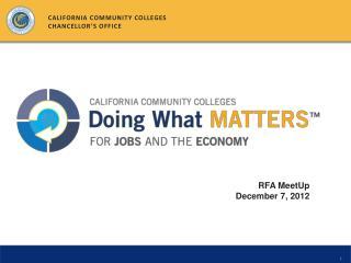 RFA  MeetUp December 7, 2012