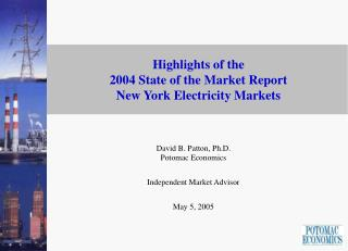 Highlights of the  2004 State of the Market Report  New York Electricity Markets