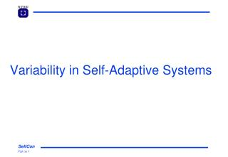 Variability in Self-Adaptive Systems