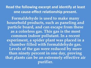 Read the following excerpt and identify at least one cause-effect relationship present.