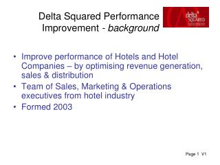 Delta Squared Performance  Improvement  - background