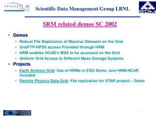 Scientific Data Management Group LBNL