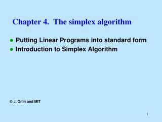 Chapter 4.  The simplex algorithm