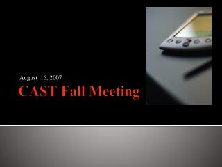 CAST Fall Meeting