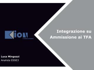 Integrazione su Ammissione ai TFA