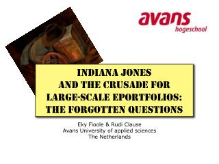 Indiana Jones  and the crusade for  Large-scale ePortfolios: The forgotten questions