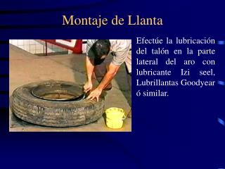 Montaje de Llanta