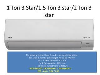 1 Ton 3 Star/1.5 Ton 3 star/2 Ton 3 star