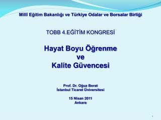 Millî Eğitim Bakanlığı ve Türkiye Odalar ve Borsalar Birliği